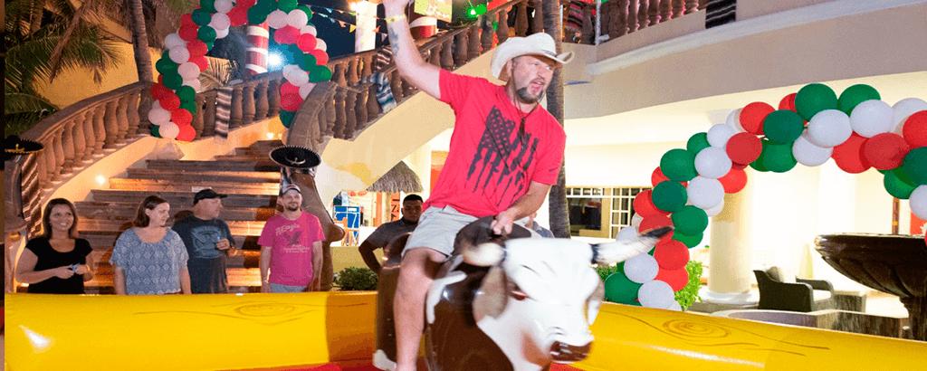 Mechanical Bull in Royal Solaris Cancun