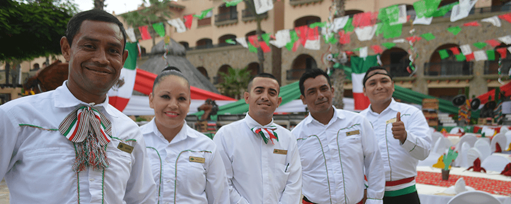 Staff of Royal Solaris Los Cabos on the 15th of September