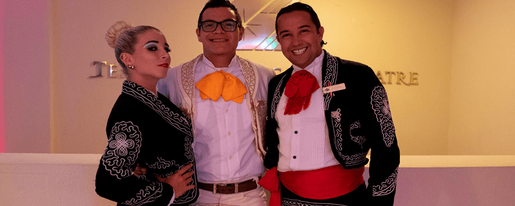 Staff with Traditional Mexican Costumes