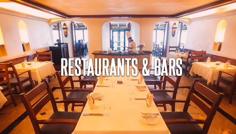 Restaurants included in your vacations