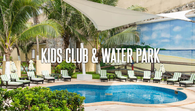 Kids Club and water park at GR Solaris Cancun