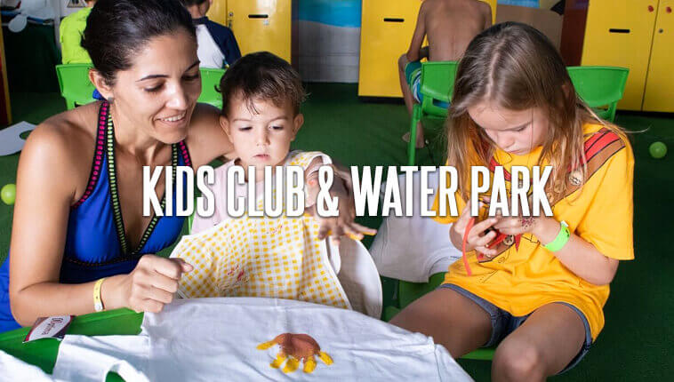 Kids Club and water park for kids at GR Caribe by solaris