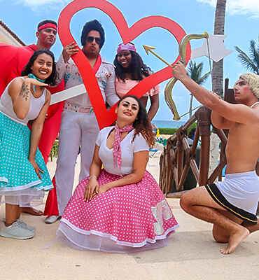 Cupid spreading love at the Solaris Resorts in Cancun