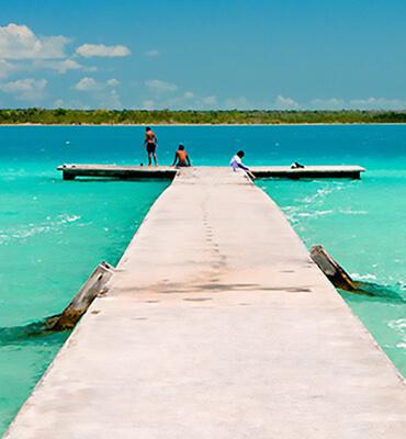 El Lago Balacar en Cancun