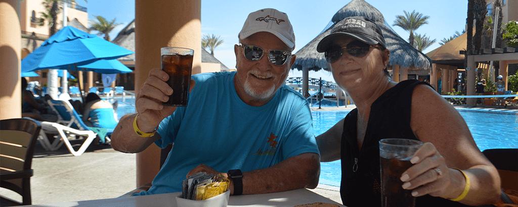 Couple at Pizzallisima of Royal Solaris Los Cabos