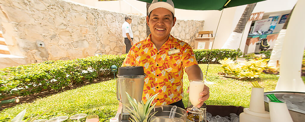 Drinks Smoothies and more that you can find at the Solaris Resorts in Cancun