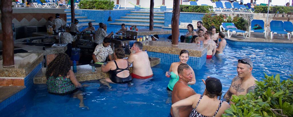 Pool Bar of the Solaris Resort in Cancun