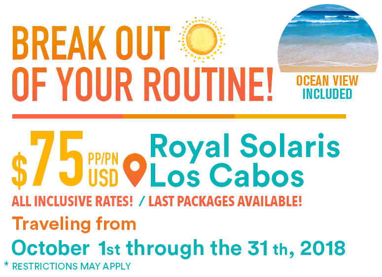 Last Minute Deal - break out the routine with Club Solaris