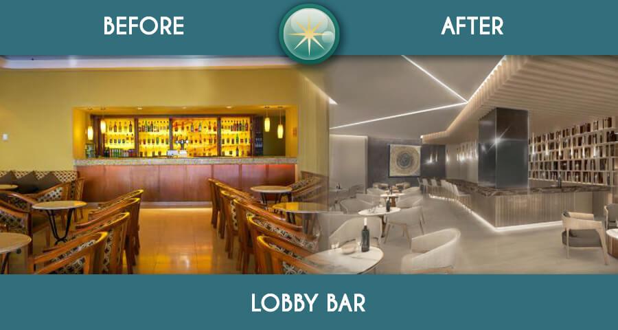 remodelacion total en solaris lobby