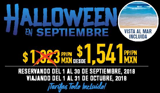 oferta Halloween en Septiembre Royal Solaris Los Cabos
