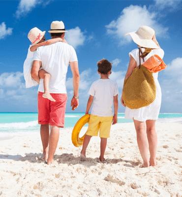 Familia Vacacionando en Cancún