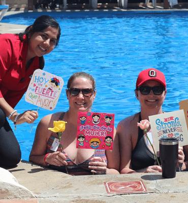 Celebrando el Día internacional de La Mujer en Cancún