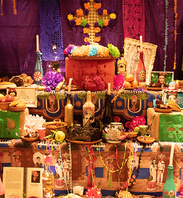 The Shrines at the Day of the Dead in Mexico