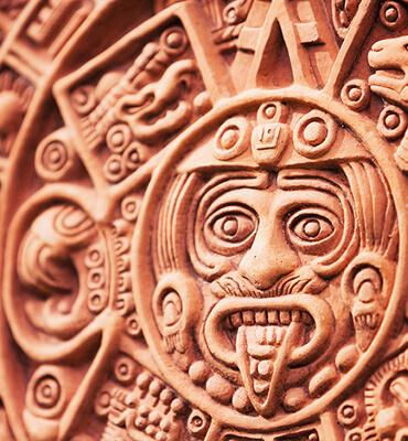 El Calendario Maya en las ruinas mayas de Cancún