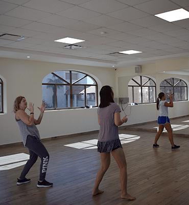 Bailando Zumba en el Hotel Solaris de Los Cabos