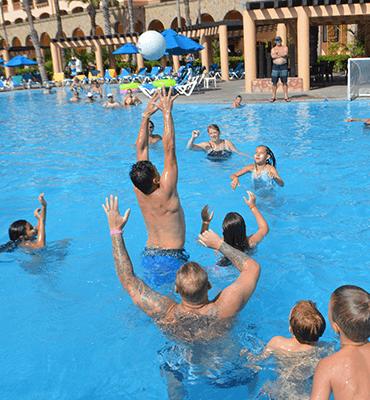 Waterpolo en el Hotel Solaris de Los Cabos