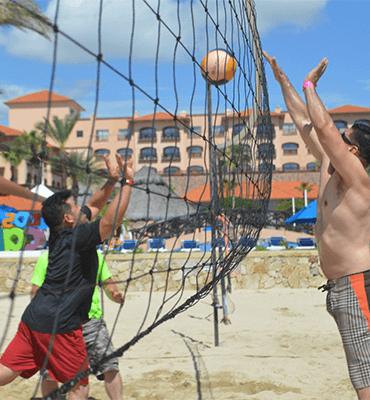 Voleibol on the beach