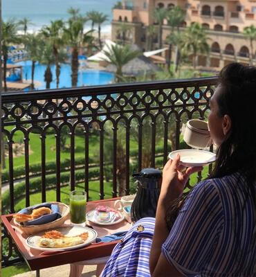 Desayunando en el Hotel Solaris de Los Cabos