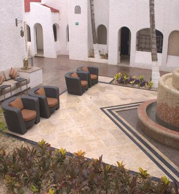 Las areas tranquilas en los hoteles solaris de cancun