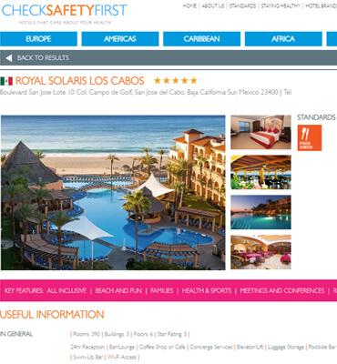 Hotel Solaris de Los Cabos con certificacion Cristal
