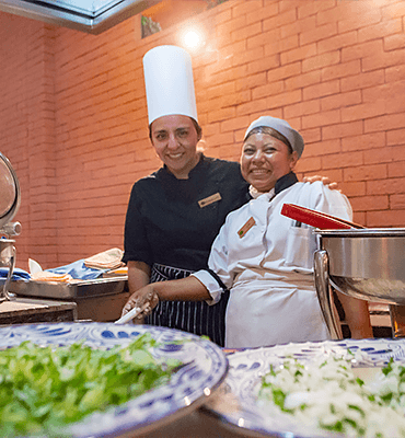 The cooks of Cafe Solaris In Los Cabos