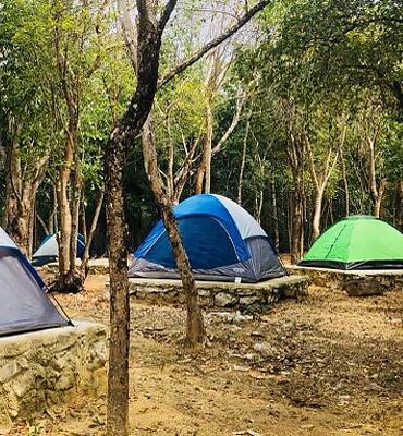 Acampando en la Reserva de Sian Kaan