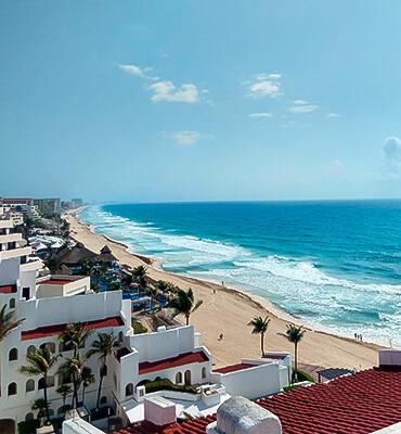 Playa del Hotel Solaris GR Caribe en Cancun