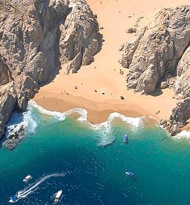La playa del Amor en Los Cabos