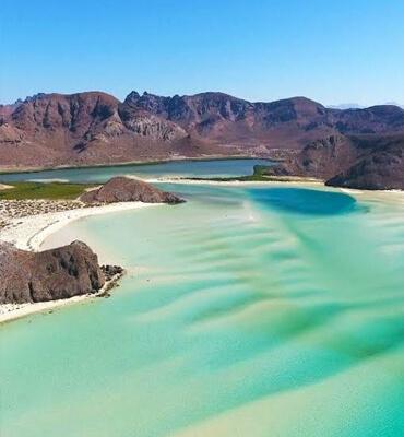 Las Dunas en la Playa de balandra en La Paz
