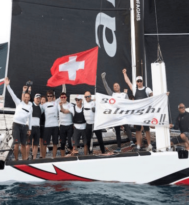 Swiss team the winners of the Extreme Sailing Series in Los Cabos