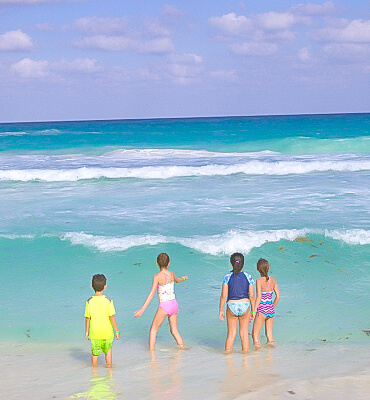 La Playa frente a los Hoteles de Cancún