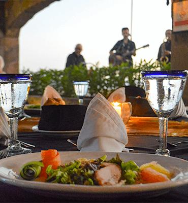 Platillos de la Cena de Gala en Club Solaris Cabos