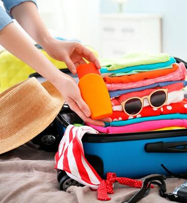 Organizando la maleta para salid de Vacaciones