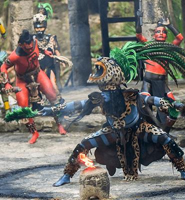 Show maya en el Parque de Xcaret