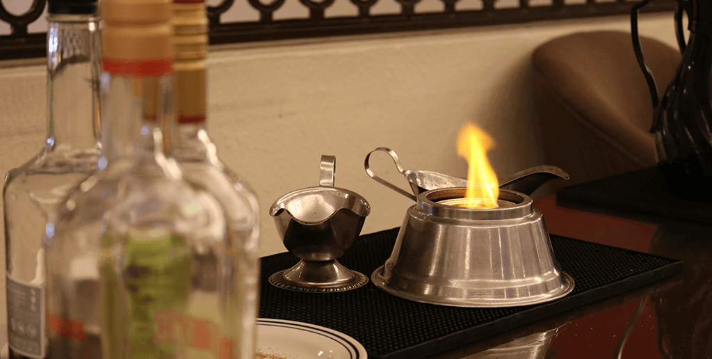Delicious Flamed Coffee at Club Solaris Cancún
